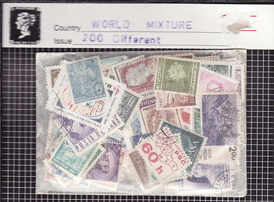 World Mixture Stamps - 200 Different