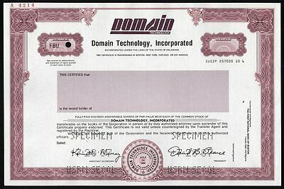 Specimen: Domain Technology Inc.