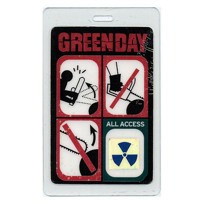 Green Day ALL ACCESS 2000 Laminated Backstage Pass