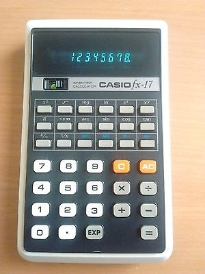 Casio Fx-17 Vintage Scientific Calculator With Original Case