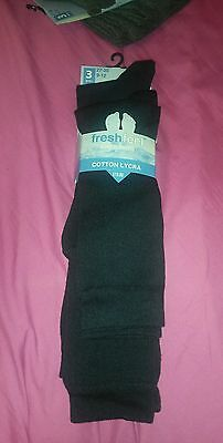 New 3 long navy school socks sz 9-12 rrp £10.00 free post offer