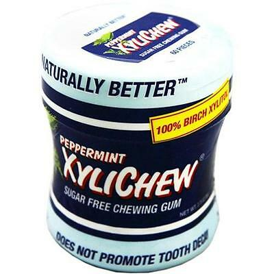 XyliChew Chewing Gum Sugar Free Peppermint 60 Piece Jar Case of 4 1518067