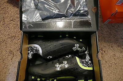 NEW Under Armour Banshee low MC Lacrosse Cleats Men's 1250089 011 sz 8.5 black