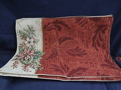 Manual Woodworkers/Weavers Cloth Holiday Botanical Placemats set of 6  USA
