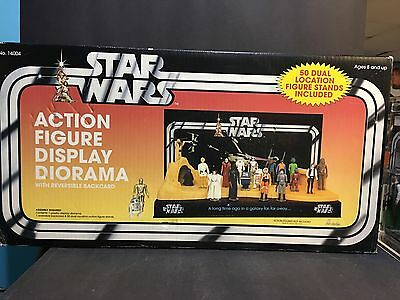 Rare Vintage Style Star Wars Action Figure Display Diorama Playset Stand MIB
