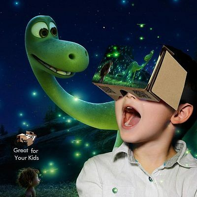 Occhiali Visore 3D In Cartone VR Googles per Smartphone Android Apple