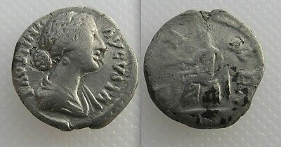 Collectable Silver Roman Denarius - Faustina Junior Daughter Of Antoninus Pius
