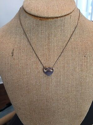 Tiffany & Co. Heart Sterling Silver Pendant Necklace with Snake Chain