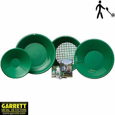 Garrett Deluxe Gold Pan Kit - Evrything you Need to Start Panning for Gold