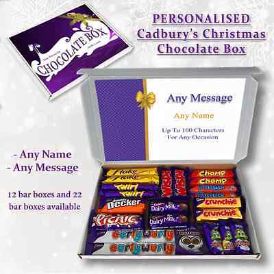 Any Occasion Personalised Cadbury Selection Box Gift Hamper Any Name