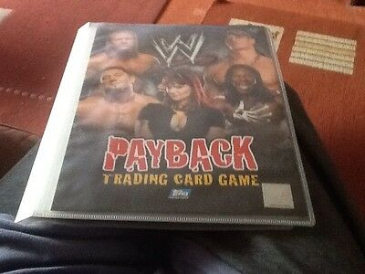 Topps WWE Payback Binder And 120 Card Set
