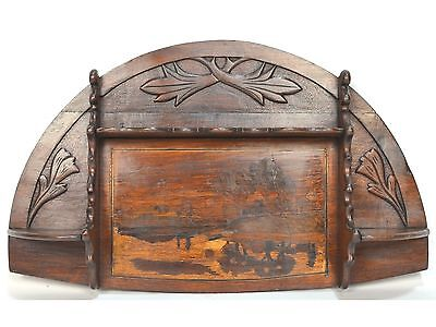Antique French Inlaid & Carved Art Nouveau Display Wall Shelf, ca. 1915