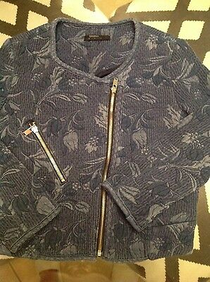 Bershka Jacket For Kids Girls Size Small Navy Blue Color