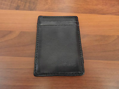 Black Leather Credit Card, Travel Pass, Note Money Business Card Holder