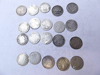 20 x   Victoria silver threepence coins  REF#12