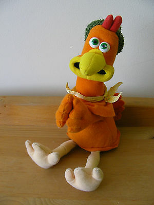 GINGER CHICKEN RUN Peg Grip Arms 20cm CUDDLY Beanie SOFT TOY Dreamworks Aardman