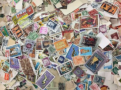 10,000+ All World Off Paper Collection / Mixture Stamps Many Different Countries