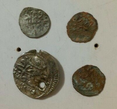 Silver and AE Ottoman Empire Coins (Four Coin Set)