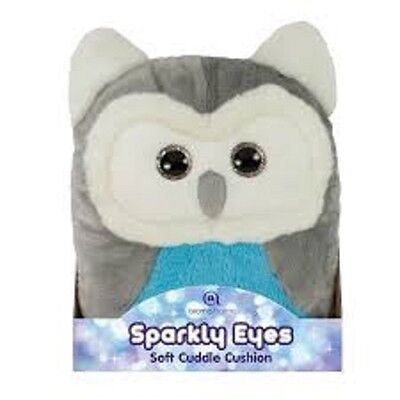 Aroma Home Sparkly Eyes Owl Travel Cushions