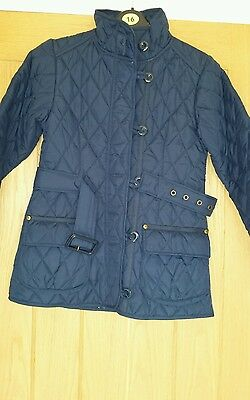 Girls next coat 9-10 years navy blue school winter immaculate condition