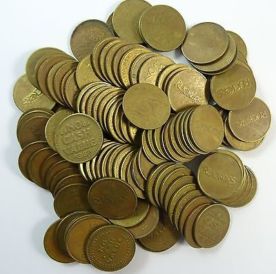 Lot of 110 Arcade Game Tokens Coins for Ruckers Saskatoon