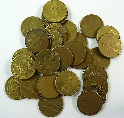 Lot of 32 Tokens Coins from McKoolz Pizza and Games Arcade Sault Ste Marie