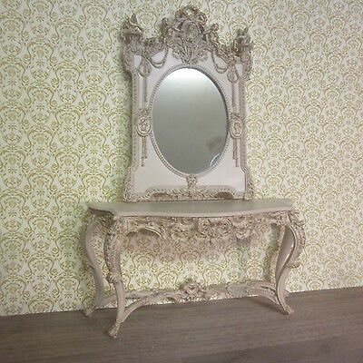 Dolls House 12th Ornate large French 18th Century Console Table & Mirror  AD03/4