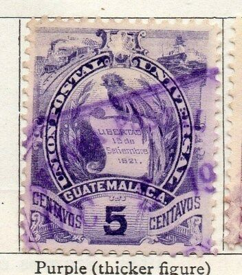 Guatemala 1886-94 Early Issue Fine Used 5c. 107927