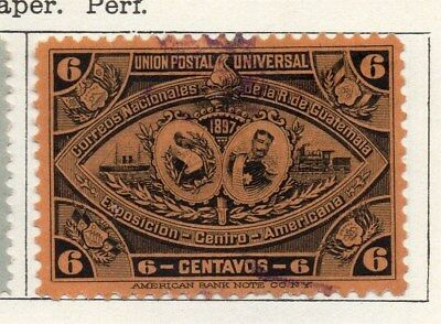 Guatemala 1897 Early Issue Fine Used 6c. 107936