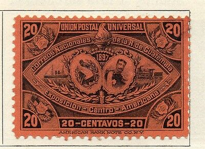 Guatemala 1897 Early Issue Fine Mint Hinged 20c. 107938
