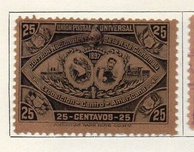 Guatemala 1897 Early Issue Fine Mint Hinged 25c. 107939