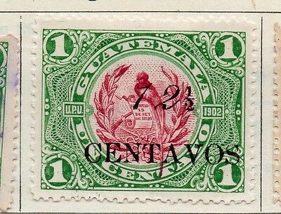 Guatemala 1916 Early Issue Fine Mint Hinged 12.5c. Surcharged 108007