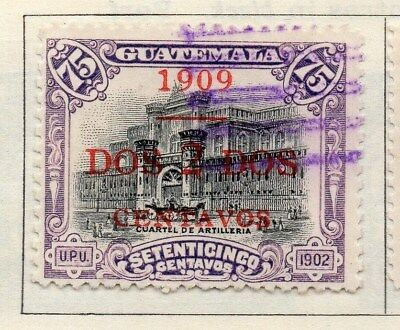 Guatemala 1909 Early Issue Fine Used 2c. Surcharged 108042