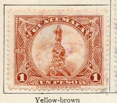 Guatemala 1925 Early Issue Fine Used 1P. 108050
