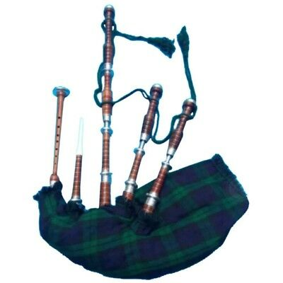 TC Highland Bagpipes Rosewood Natural Silver Ferrules/Irish Bagpipes Black Watch
