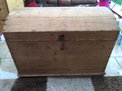 ANTIQUE PINE DOMED CHEST  VERY RARE was £299 now £199 now £149