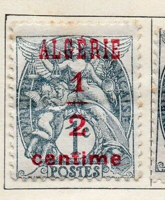 Algeria 1924-26 Early Issue Fine Mint Hinged 1/2c. Optd Surcharged 106839