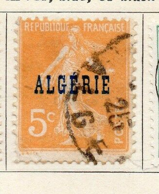 Algeria 1924-26 Early Issue Fine Used 5c. Optd 106845