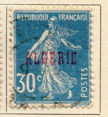 Algeria 1924-26 Early Issue Fine Used 30c. Optd 106855