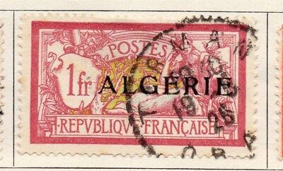 Algeria 1924-26 Early Issue Fine Used 1F. Optd 106865
