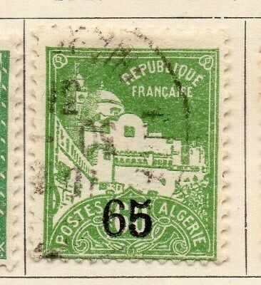 Algeria 1927 Early Issue Fine Used 65c. Surcharged 106899