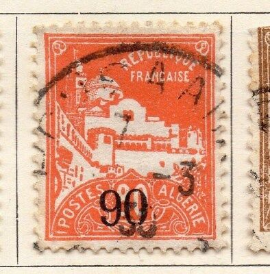 Algeria 1927 Early Issue Fine Used 90c. Surcharged 106900