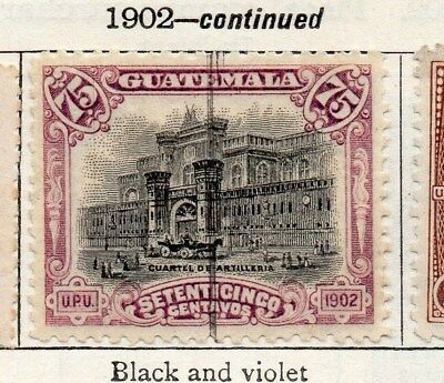 Guatemala 1902 Early Issue Fine Used 75c. 106908