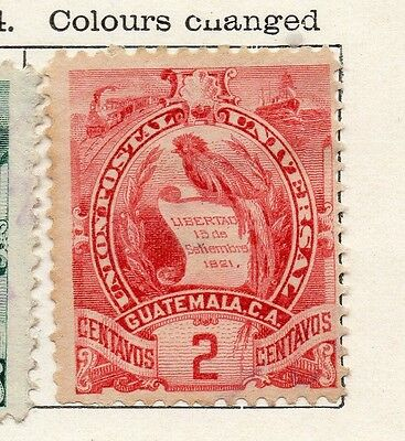 Guatemala 1900 Early Issue Fine Mint Hinged 2c. 106924