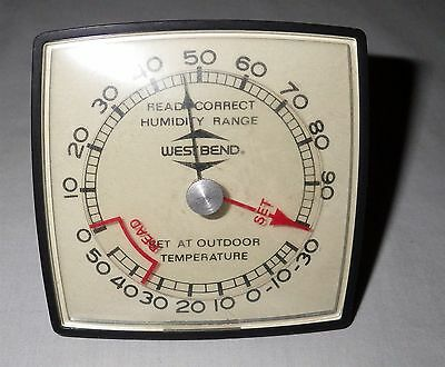 Vintage 1978 West Bend Thermometer w/ Humidity Range