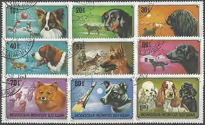 Timbres Chiens Mongolie 973/81 o lot 171