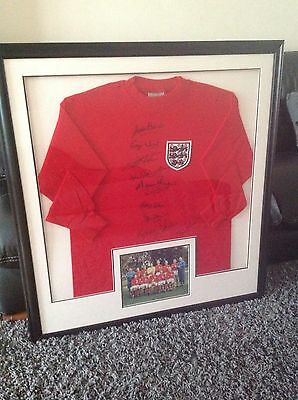England 1966 shirt signed by 10 from allstarsignings RRP £1950
