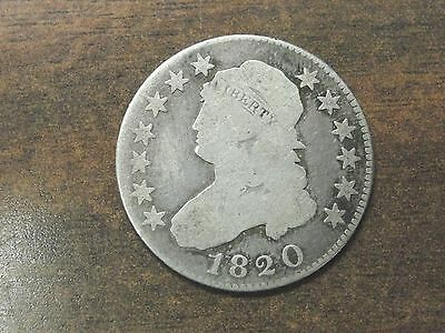 1820 Capped Bust Quarter Large O * Nice Better Type Coin *
