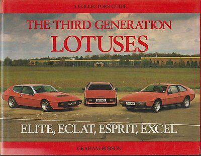 Lotus Elite Eclat Esprit & Excel 1974 - 1982 Design & Production History Book