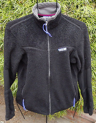 Patagonia Grizzly Regulator Vintage Made In Usa Black Womens Sz S